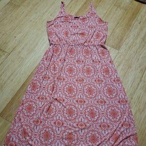 GAP orange and white medallion tank maxi dress